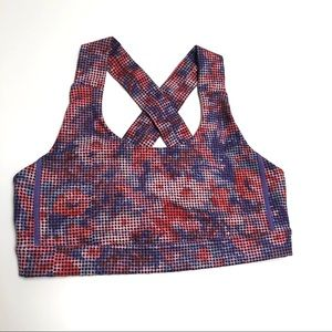 Ω Lululemon Floral Athletic Sports Bra Sz 6